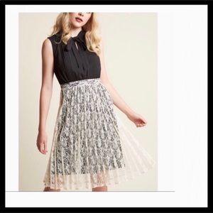 Modcloth Fervour Twofer Lace Skirt Dress